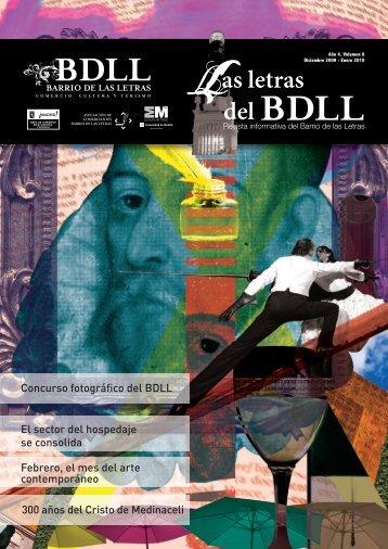 boletín informativo del barrio de las letras. Volumen 8, Diciembre 2009