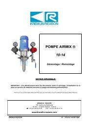 POMPE AIRMIX ® 10-14 - Kremlin Rexson Sames