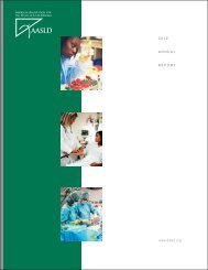 www.aasld.org 2012 ANNUAL REPORT