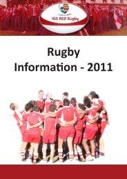 Rugby Information - 2011 - Ipswich Grammar School