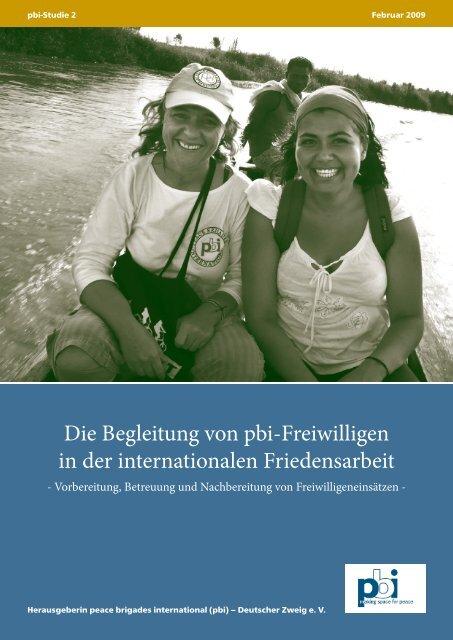 Die Begleitung von pbi-Freiwilligen in der internationalen ...