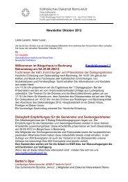 Katholisches Dekanat Rems-Murr Newsletter Oktober 2012