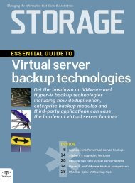 Essential Guide to Virtual Server Backup Technologies