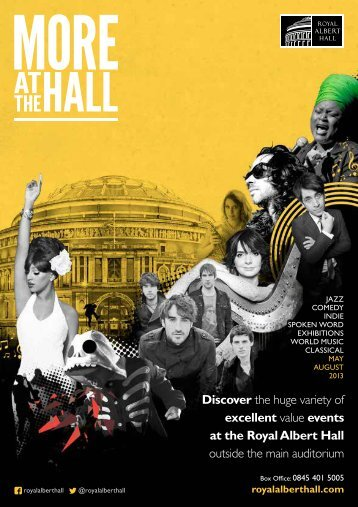 excellent value events at the Royal Albert Hall