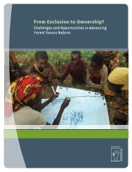 From Exclusion to Ownership? - Rights and Resources Initiative