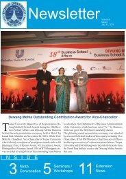 Newsletter Volume 6 Issue 1 - Tezpur University