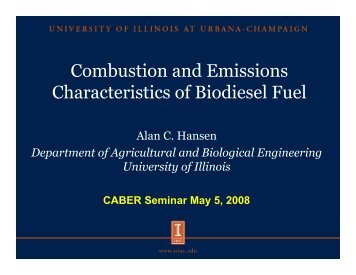Combustion and Emissions Characteristics of Biodiesel Fuel