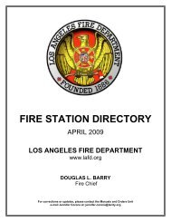 2 2 06 Audit by Laura Chick of the Los Angeles Fire Department