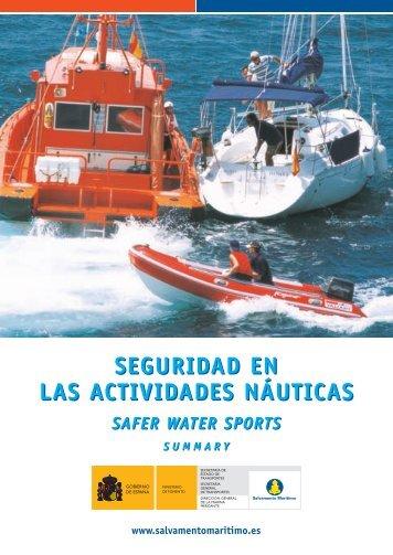 Seguridad en las actividades náuticas - Salvamento Marítimo
