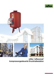 reflex 'reflexomat' kompressorgesteuerte Druckhaltestation