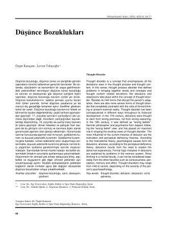 Pdf - Nöropsikiyatri Arşivi Dergisi