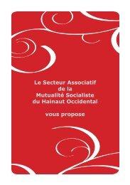 Le Secteur Associatif de la Mutualité Socialiste du Hainaut ... - Visualis