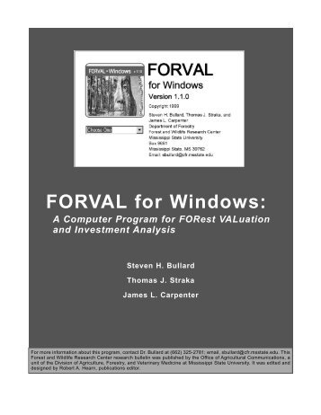 FORVAL for Windows: - Forest and Wildlife Research Center ...