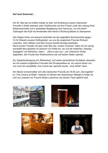 Bericht über den Wells-Besuch 2013 - Rotary Club Salzgitter ...