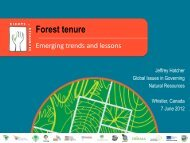 Forest tenure - Rights and Resources Initiative