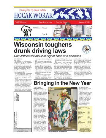 Wisconsin toughens drunk driving laws - Ho-Chunk Nation