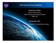 NASA Remote Sensing Capabilities