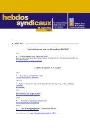 les Hebdos syndicaux du 30 septembre 2011