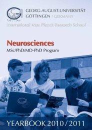 Yearbook 2010/2011 MSc/PhD/MD-PhD Neuroscience Program