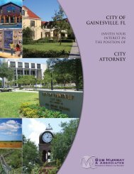 CITY OF GAINESVILLE, FL CITY ATTORNEY