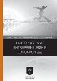 enterprise and entrepreneurship education (eee) - HETAC