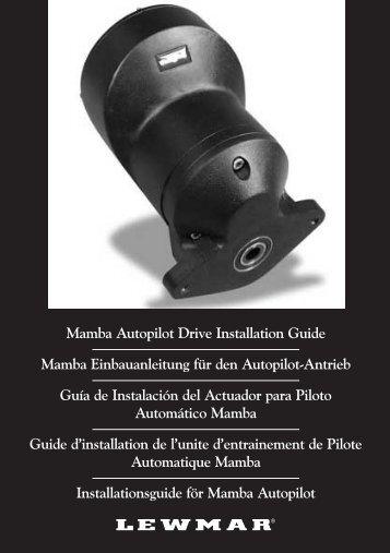Mamba Autopilot Drive Installation Guide Mamba ... - Lewmar