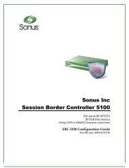 SBC 5100 Configuration Guide - Sonus Networks