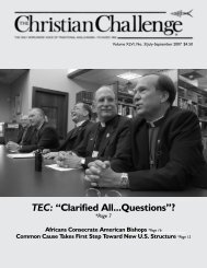 """TEC: """"Clarified All...Questions""""? - The Christian Challenge"""
