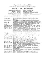 Prof. Dr. iur. Frank Emmert, LL.M. - I.U. School of Law - Indiana ...