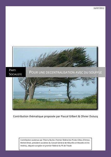 Pour une décentralisation avec du souffle - Fédération du Finistère ...