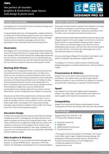 Datasheet - PDF - Xara
