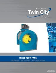 mixed flow fans - Twin City Fan & Blower