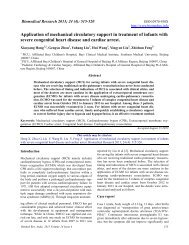 Application of mechanical circulatory support in treatment of infants ...