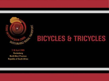 Bicycles & Tricycles Part 2 - Interdesign 2005