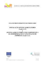 Guia de preenchimento do formulário - Infoeuropa