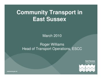 Community Transport in East Sussex - Action in Rural Sussex