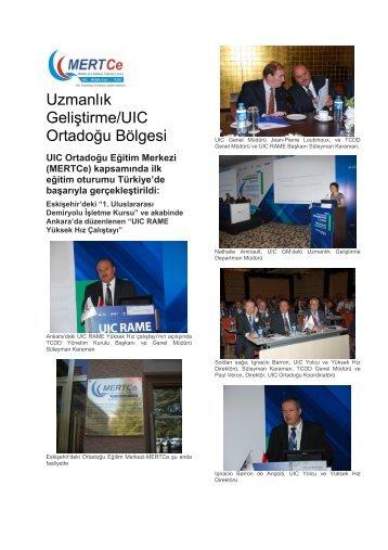 Uzmanlık Geliştirme/UIC Ortadoğu Bölgesi - Tcdd