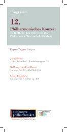 12. Philharmonisches Konzert - Die Duisburger Philharmoniker