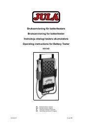 Bruksanvisning för batteritestare Bruksanvisning for ... - Jula