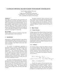 ultimate opening segmentation with shape constraints - Centre de ...