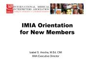 IMIA Orientation for New Members