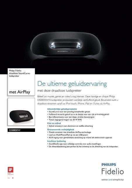 DS8800W/10 Philips draadloze SoundCurve-luidspreker