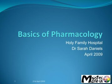 Basics of Pharmacology - MOTEC LIFE-UK