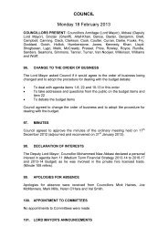 COUNCIL Monday 18 February 2013 - Meetings, agendas, and ...