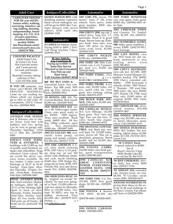6/3/10 classifieds - Battle Creek Shopper News