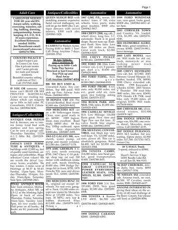 6/3/10 classifieds - Battle Creek Shopper News