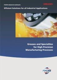 Greases Brochure - Fuchs Lubricants (India) Pvt. Ltd