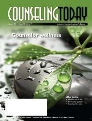 Counselor wellness - American Counseling Association