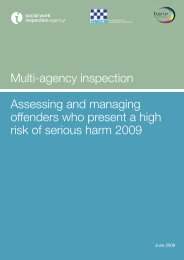 Assessing and managing offenders who present a high risk of ...
