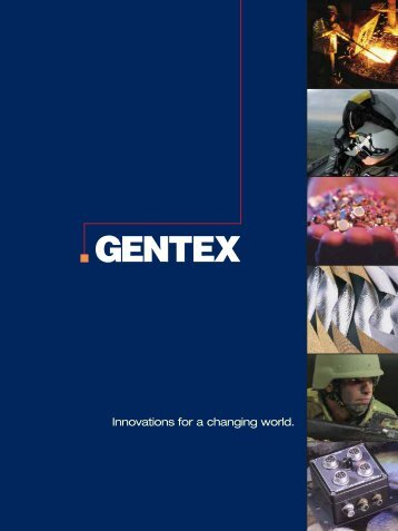 Innovations for a changing world. - Gentex Corporation
